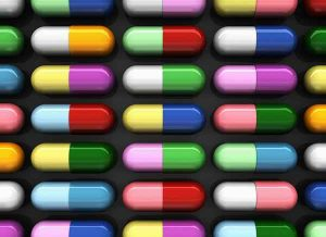 Colored Prescription Capsules